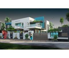 Kolkata 3d Bungalow rendering services 102#