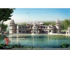 Maldah 3d Bungalow rendering services 102#